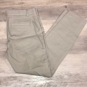 NWT GAP Tan skinny ankle work pants